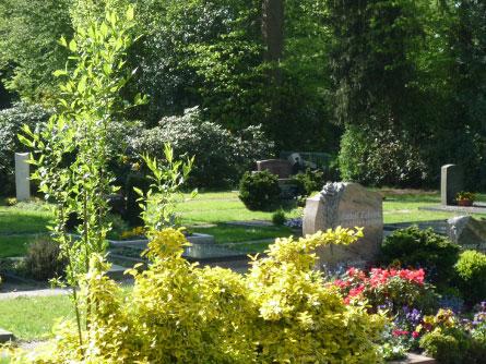 Blick über den Neuen Friedhof; Foto: Kirchengemeinde Oldenburg