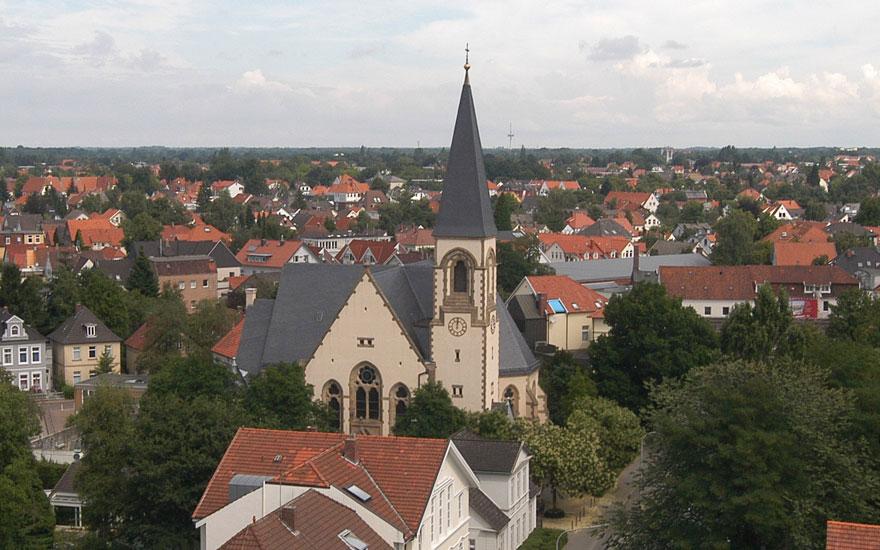 Garnisonkirche am Nordende der Peterstraße; Foto: Kirchengemeinde Oldenburg