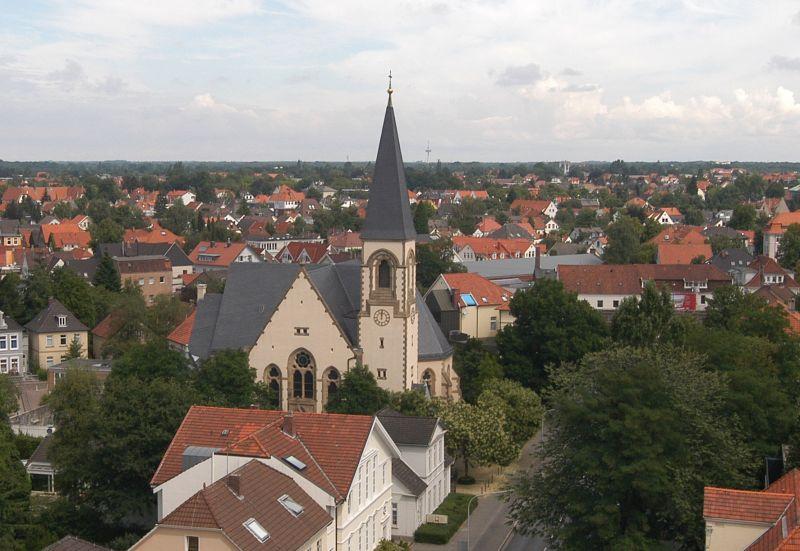 Die Garnisonkirche am Nordende der Peterstraße; Foto: Kirchengemeinde Oldenburg