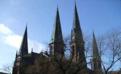 Lambertikirche mit Markt 2007; Foto: Ralph Hennings