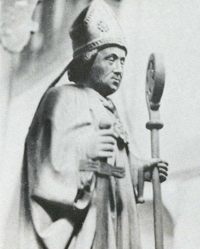 Lambertus mit Schwert und Bischofsstab; Foto: Kirchengemeinde Oldenburg